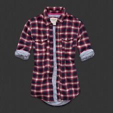 Abercrombie, chemise en flanelle matelassée PIPER 110 €