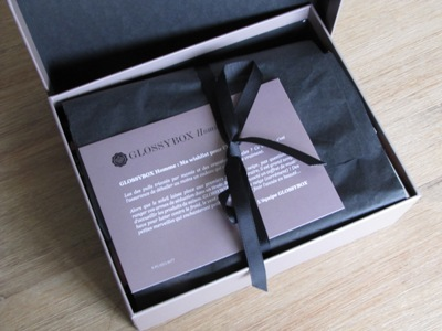 decembre 2013 glossybox homme