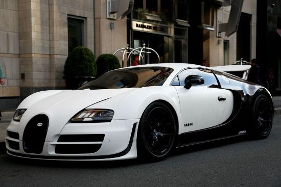 Bugatti veyron pur blanc panda