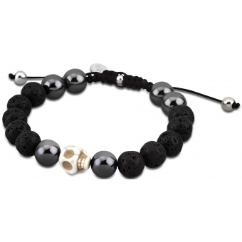 bracelet-lotus-style-Bracelet Shamballa Perle Argent