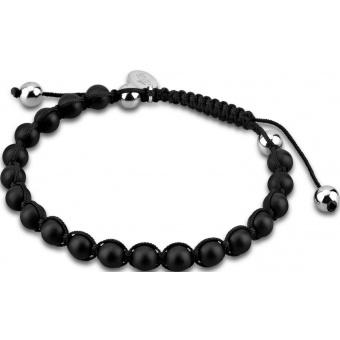 bracelet-lotus-style-Bracelet Shamballa Perle Noire