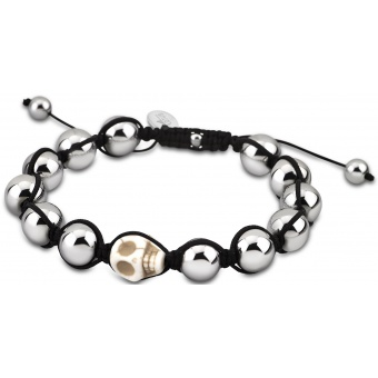 bracelet-lotus-style-Bracelet Shamballa Tête de Mort