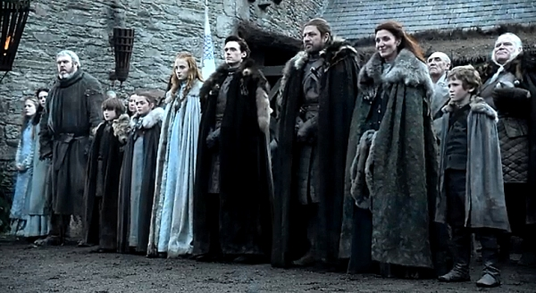 famille stark game of thrones