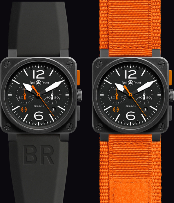 Bell and Ross BR 03-93 Carbon Orange