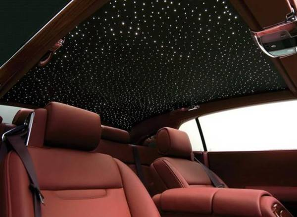 plafond etoilé rolls royce