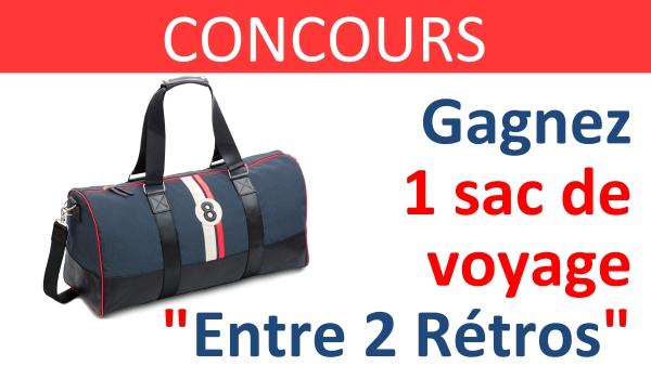 CONCOURS sac voyage entre 2 retros