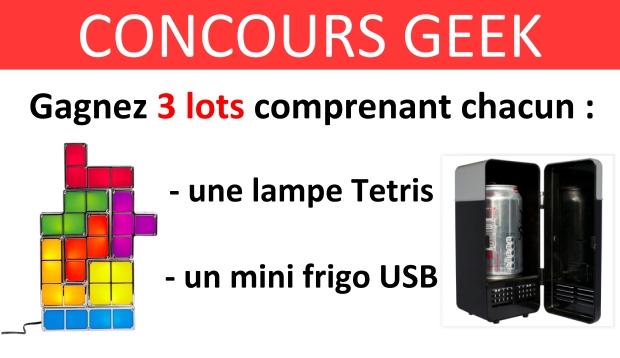 CONCOURS geek lampe tetris mini frigo usb