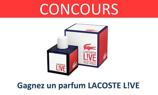 CONCOURS parfum lacoste live l!ve
