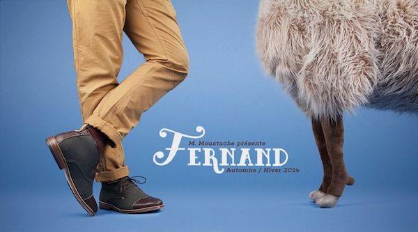chaussure monsieur moustache fernand