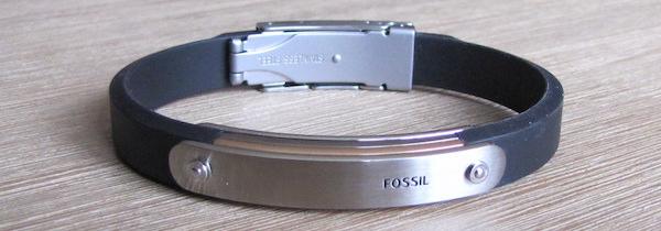 bracelet tricolore fossil