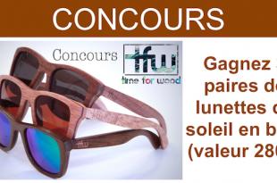 concours lunettes de soleil en bois