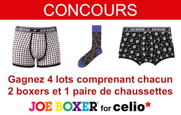 concours celio joe boxer