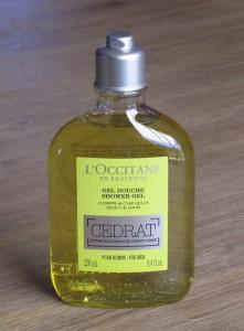 l'occitane en provence cédrat gel douche