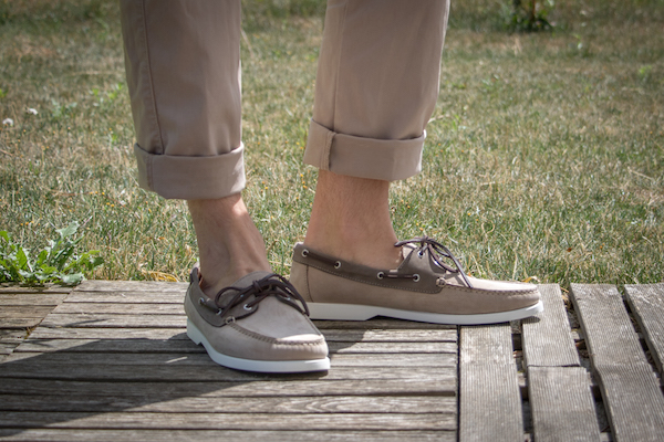 chaussures bateau shoepassion beige