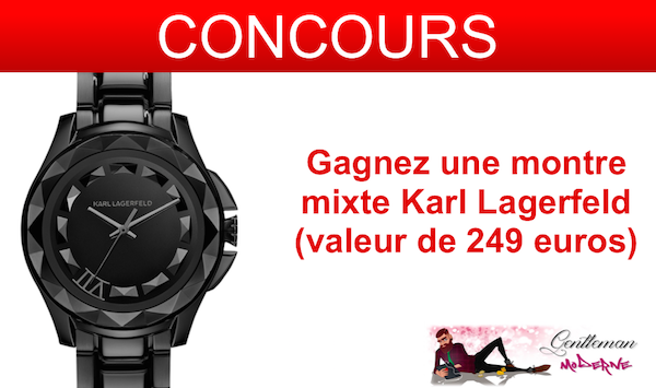 concours montre mixte karl lagerfeld