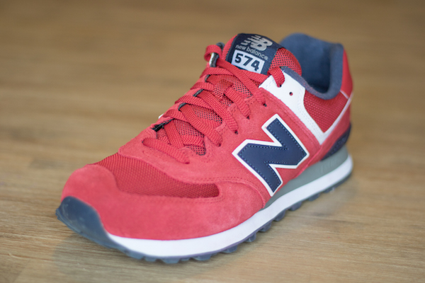 new balance ml574 rouge homme