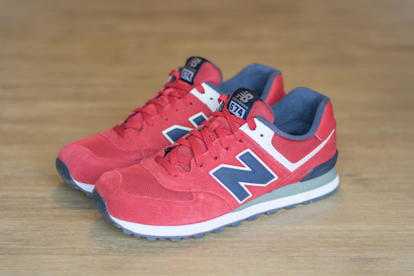 new balance 574 rouge homme