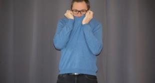 Pull col V en cachemire bleu Diego Garcia test et avis blog mode homme