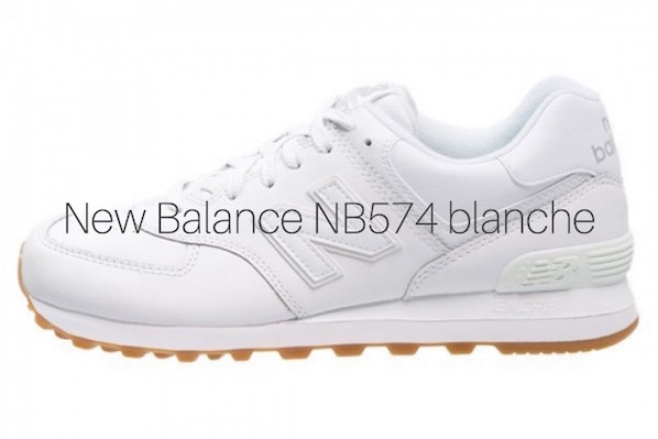 new balance blanc et or