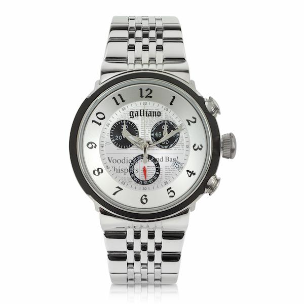 montre chrono John Galliano aluminium et acier