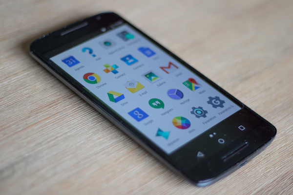 test moto x play motorola face avant