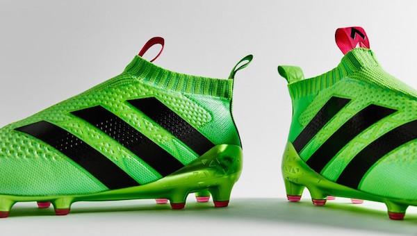 chaussure de foot sans lacet Adidas ACE 16+ PURECONTROL 3 bandes