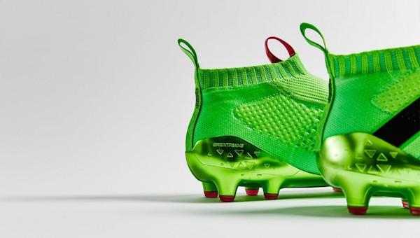 chaussure de foot sans lacet Adidas ACE 16+ PURECONTROL vert