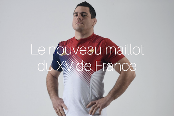 Le nouveau maillot de l équipe de France de Rugby  b1460a7a763