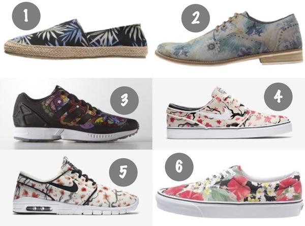 chaussures à fleurs homme floral fleurie