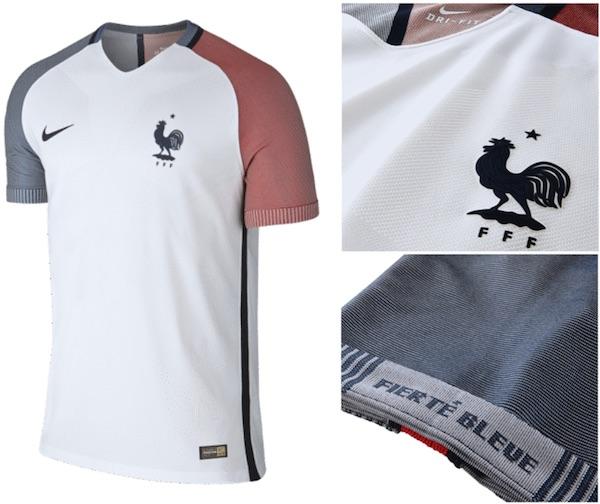 maillot equipe de france euro 2016 exterieur blanc