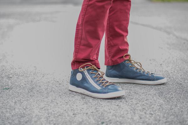 Comment porter un pantalon rouge homme chaussure pataugas jazzy