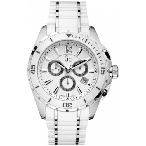 montre blanche gc guess collection