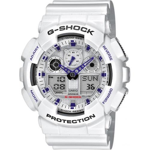montre blanche homme casio gshock