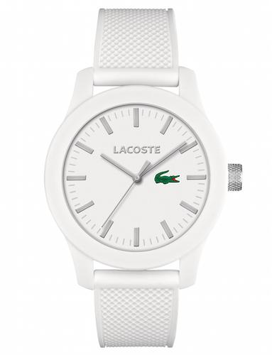 montre blanche lacoste l.12.12