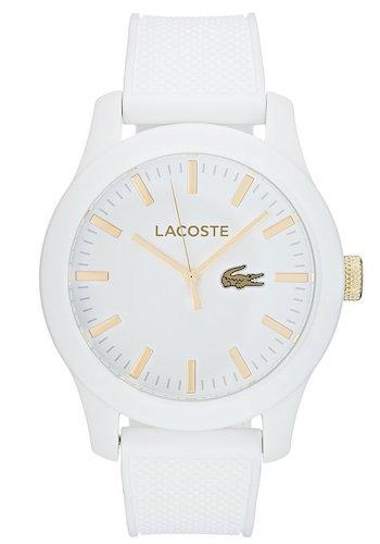 montre blanche lacoste