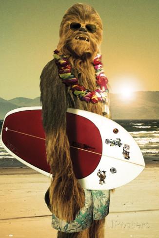 poster film culte chewbacca-surfeur