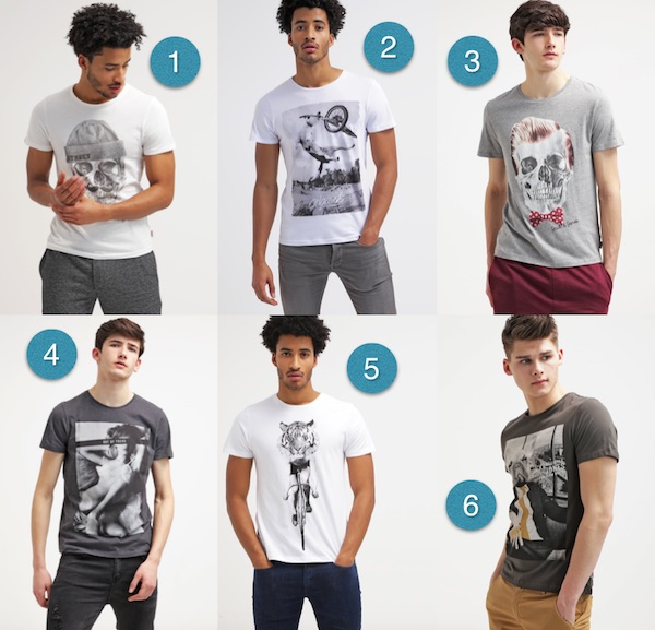 t shirt imprime homme jack & jones