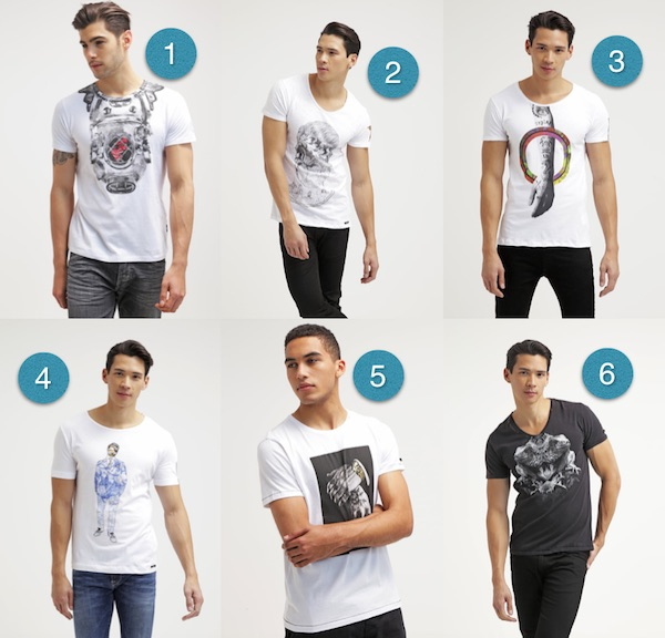 t shirt imprime homme replay