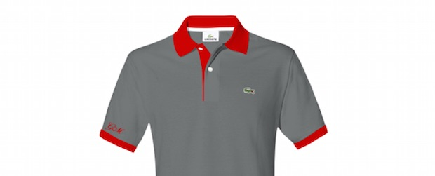 personnalise polo lacoste initiale manche