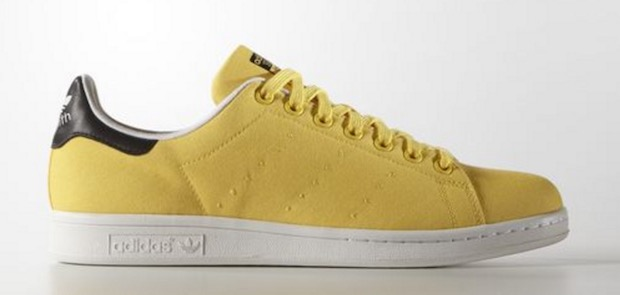 stan smith colorees uni jaune