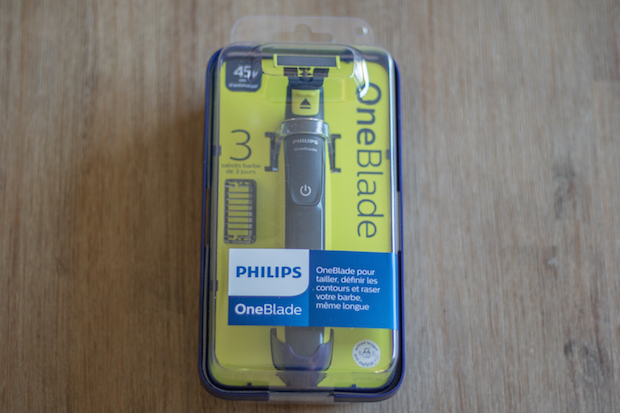 test oneblade philips emballage