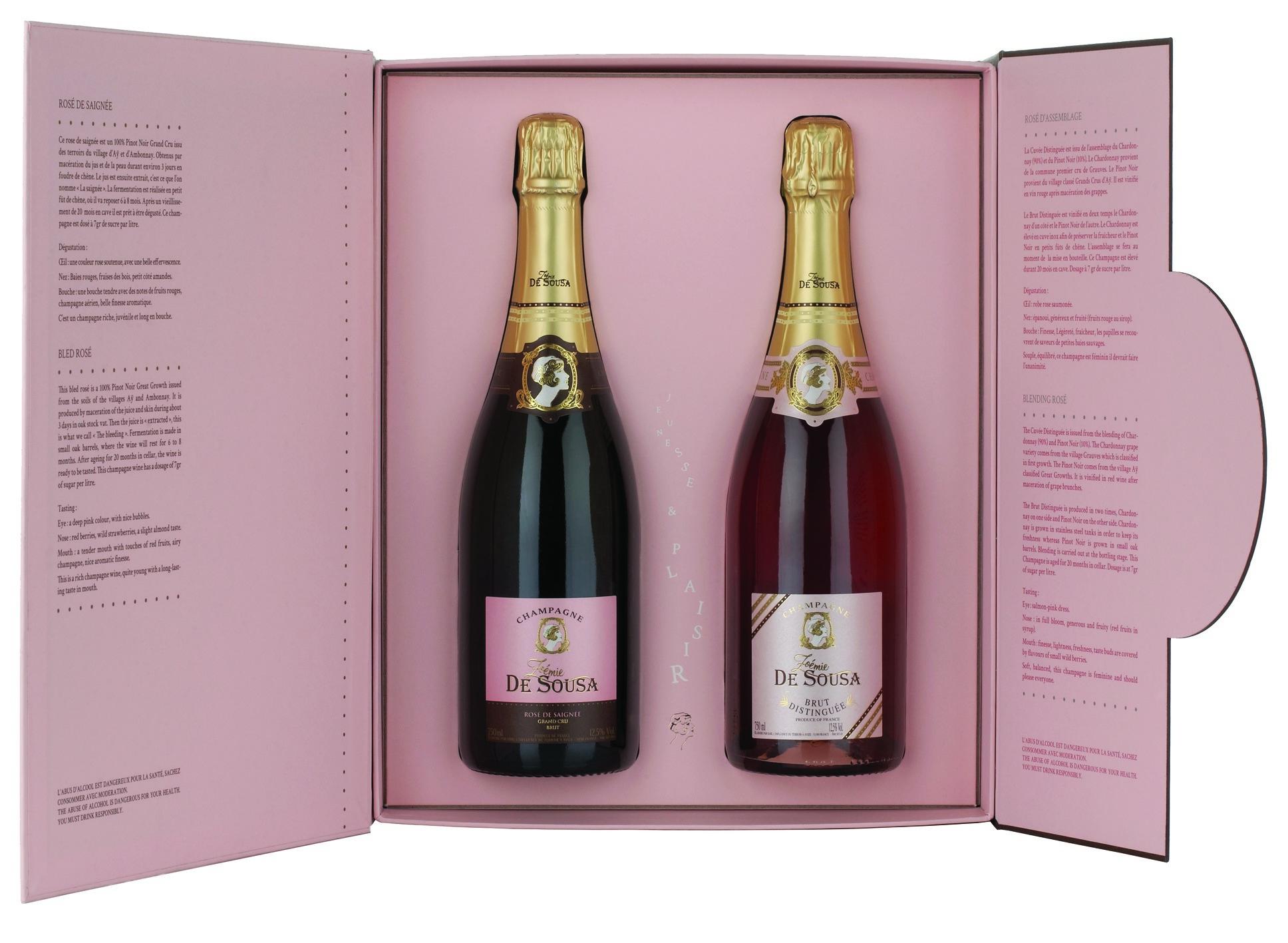Coffret Deux Rosés Champagne Zoémie de Sousa
