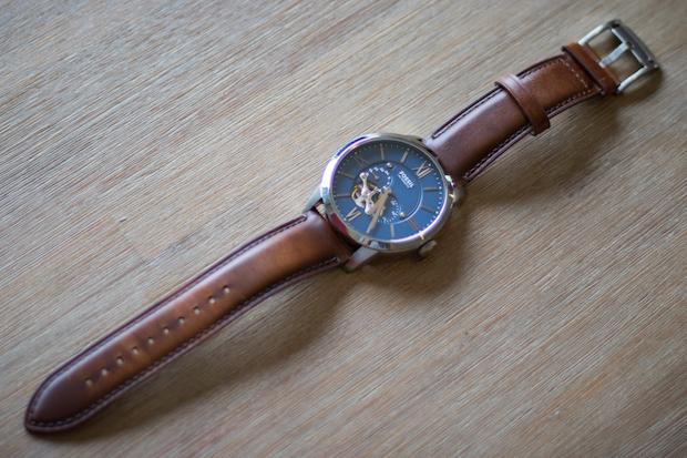 montre townsman automatique fossil avis bracelet cuir