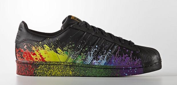 superstar noire pride pack adidas arc en ciel couleur
