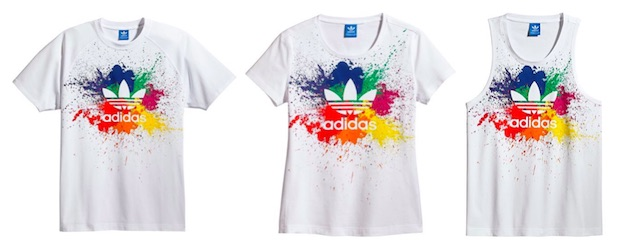 t-shirt pride pack adidas arc en ciel couleur