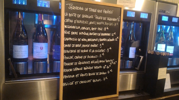 cave a vin jeroboam paris menu