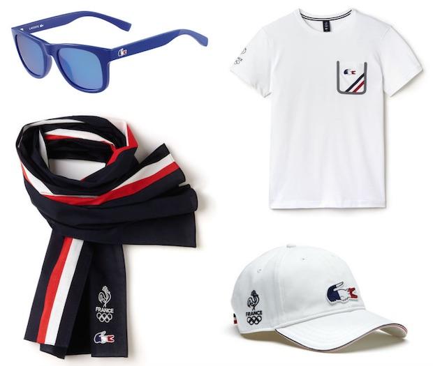 26baceefef lunettes casquette tshirt echarpe lacoste jeux olympiques equipe de france  2016