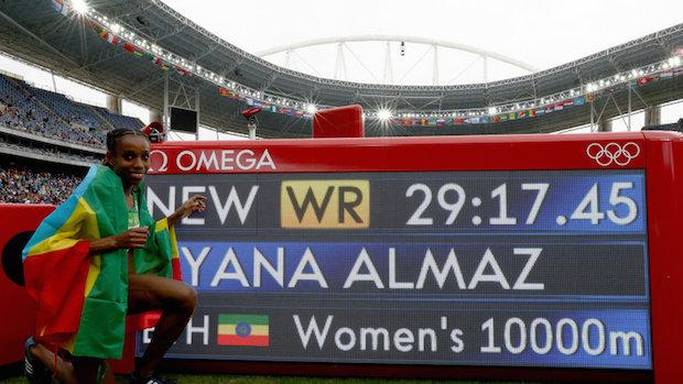 Omega 12 Almaz Ayana 10 000 mètres