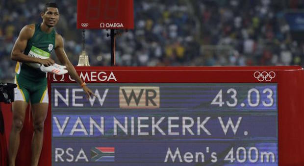 Omega 13 Wayde van Niekerk 400 mètres