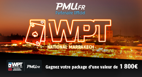 marrakech world poker tour pmu